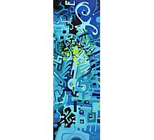 Held Gently in Blue - Abstract Acrylic Canvas Painting Photographic Print
