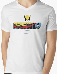 WWWD Mens V-Neck T-Shirt