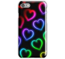 Rainbow Neon Hearts iPhone Case/Skin
