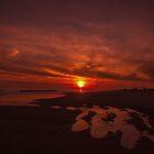 Pink Coastal Sunset by ArtLandscape