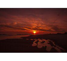 Pink Coastal Sunset Photographic Print