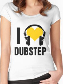I Love Dubstep  Women's Fitted Scoop T-Shirt