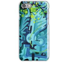 Held Gently in Blue - Abstract Acrylic Canvas Painting iPhone Case/Skin