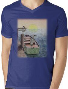 Great Blue Heron Mens V-Neck T-Shirt