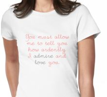 Darcy's Proposal Womens Fitted T-Shirt