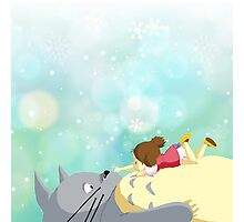 Totoro and Mei Photographic Print