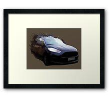 Ford Fiesta Splatter Framed Print