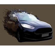 Ford Fiesta Splatter Photographic Print
