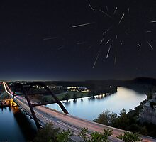 Pennybacker Bridge, Night of the Draconids - Austin, Texas by RobGreebonPhoto