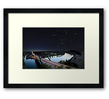 Pennybacker Bridge, Night of the Draconids - Austin, Texas Framed Print