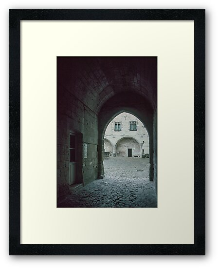 Entrance to courtyard in Saumur Chateau 19840222 0044 by Fred Mitchell