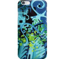Held Gently in Blue - Abstract Acrylic Canvas Painting - TOP iPhone Case/Skin