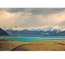 Storm Brewing over Lake Tekapo Photographic Print