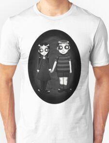 Dark little Wednesday and Pugsley Addams T-Shirt