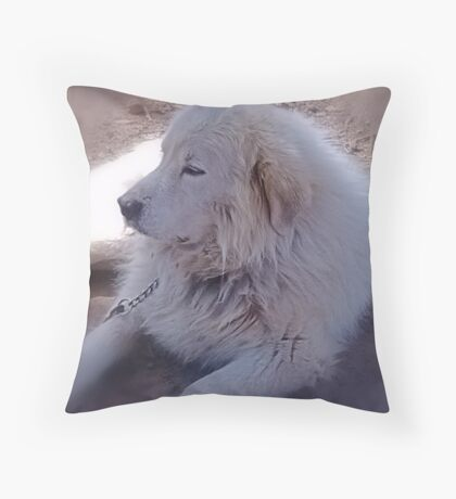 Ivan the Great Pyrenees Throw Pillow