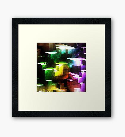 bright tetris Framed Print
