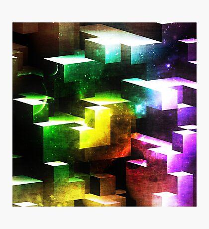 bright tetris Photographic Print