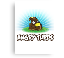 Angry Turds Canvas Print