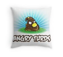Angry Turds Throw Pillow