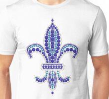 Blue Fleur de Lis Unisex T-Shirt