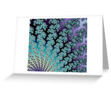 Pastel Rainbow Abstract Fractal Fan Greeting Card