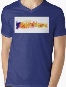 London skyline map city Tower Mens V-Neck T-Shirt