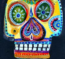 Amarillo Skull by dayofthedeadart