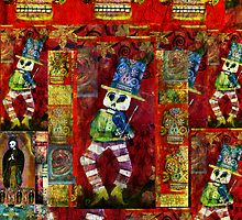 Baile Esqueleto by dayofthedeadart