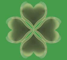 Faith, Hope, Love, Luck Shamrock Pattern Baby Tee
