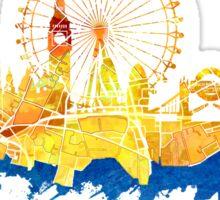 London skyline map city blue Sticker