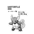B&W Wartortle iPhone / iPod Case by Aaron Campbell