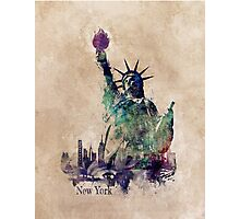 Statue of Liberty green art version Photographic Print