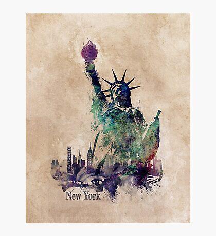 Statue of Liberty green art version Photographic Print