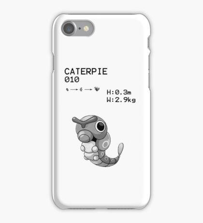 B&W Caterpie iPhone / iPod Case iPhone Case/Skin