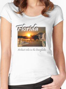 Florida (Airboat Rides in the Everglades) Women's Fitted Scoop T-Shirt