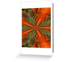Abstract Orange And Green Design Greeting Card