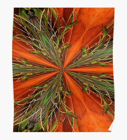 Abstract Orange And Green Design Poster