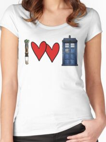 I love Doctor Who Women's Fitted Scoop T-Shirt