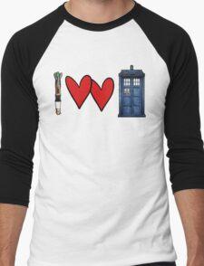 I love Doctor Who Men's Baseball ¾ T-Shirt