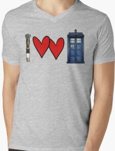 I love Doctor Who Mens V-Neck T-Shirt