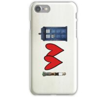 I love Doctor Who iPhone Case/Skin