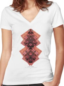 NATIVE BELLS Women's Fitted V-Neck T-Shirt