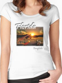 Florida Everglades Women's Fitted Scoop T-Shirt