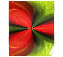 Abstract Red And Green Design Poster