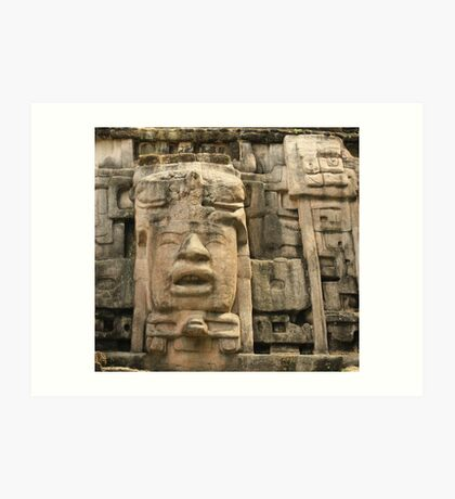 maya ruins Art Print