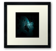 In Time and Space, No One Can Hear You Scream Framed Print
