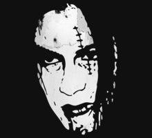 Bloody Scar Face - Cool Horror Grungy T-Shirt Design by Denis Marsili - DDTK