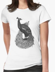 Long Tailed Peacock Womens Fitted T-Shirt