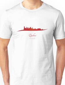 Quebec skyline in red Unisex T-Shirt