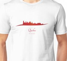 Quebec skyline in red Unisex T-Shirt
